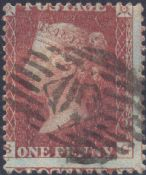 1856 1d Red SG32 Plate 33 'SG'